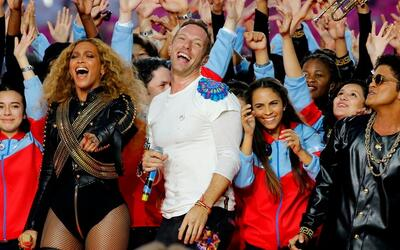 Coldplay, Beyoncé y Bruno Mars.