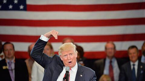 Donald Trump en un evento realizado en Roanoke, Virginia, el 25 de julio...