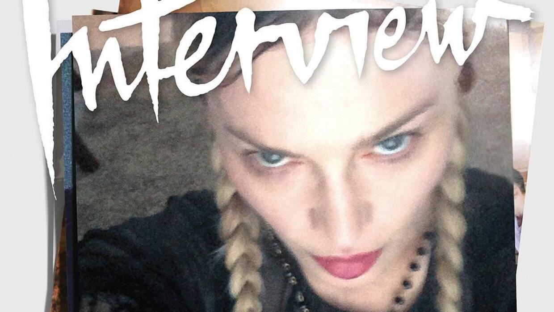 La portada de Madonna en Interview.