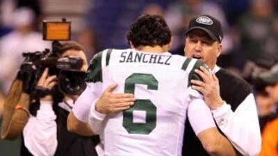 Rex Ryan ha sido el único entrenador en jefe de Mark Sánchez en los Jets.