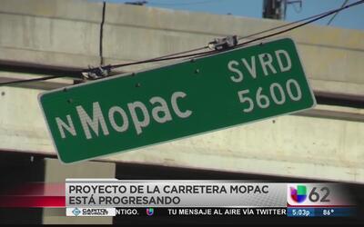 Apertura de carril en la carretera Mopac