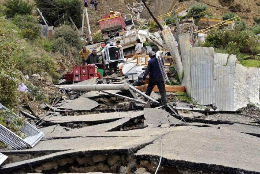 Bolivia ha sido afectado en las últimas semanas por las fuertes lluvias.