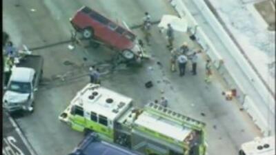 Un accidente que involucró cinco vehículos en la Autopista Estatal 836 d...