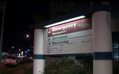 Cartel hospitalario en Los Ángeles