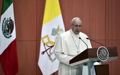 El papa Francisco en Palacio Nacional.