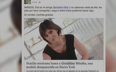 Modelo mexicana desaparece sin dejar rastro en Nueva York