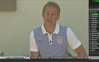 """Jürgen Klinsmann: """"El grupo merecía ser convocado otra vez tras la Copa..."""