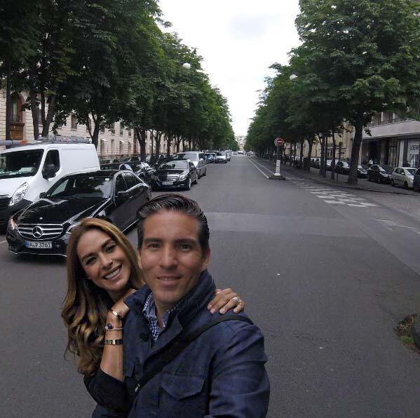 Fernando y Galilea empezaron su semana en París, Francia.