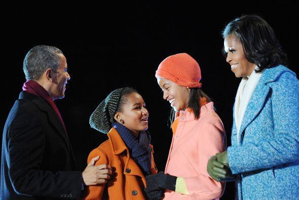 Así fue como los Obama ya están listos para celebrar la Na...