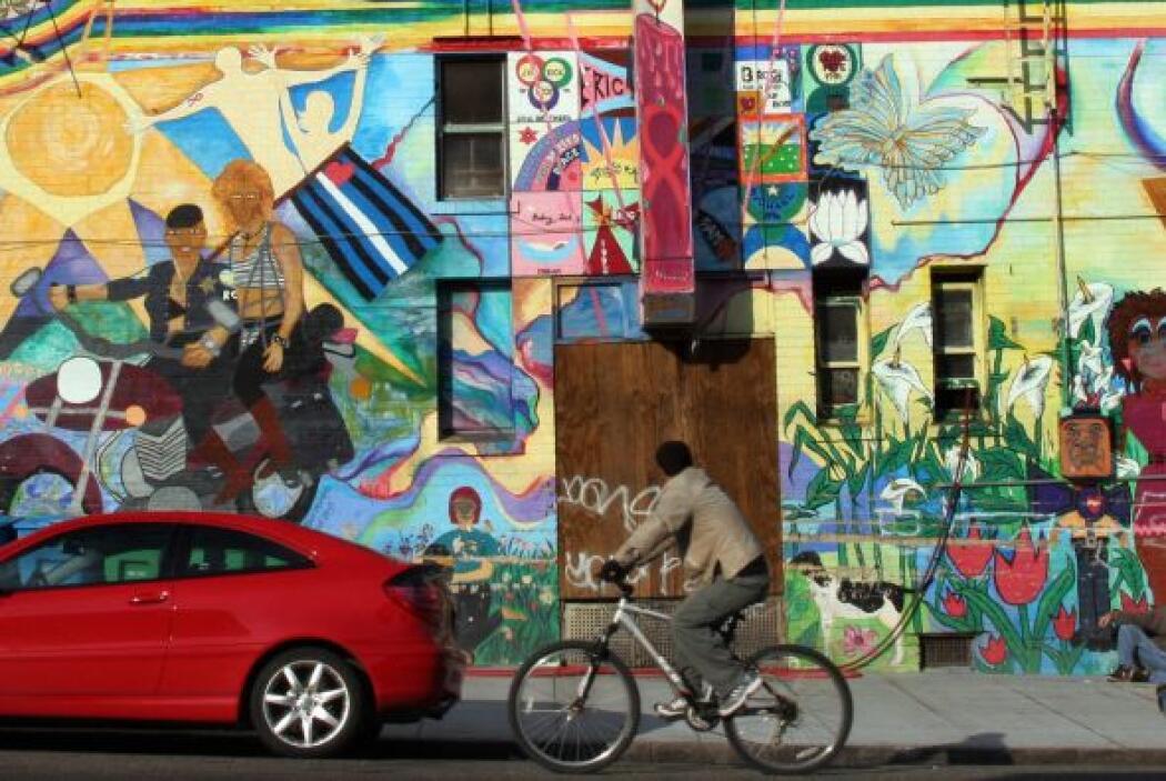 En la intersección de la calle 16 y Market en el distrito histórico de L...
