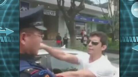 """""""Lord Audi"""" agredió a ciclista y a oficial de policía"""