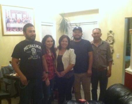 De izquierda a derecho: Luis, Noemí, Laura, Gerardo (hijo) y Gerardo (pa...