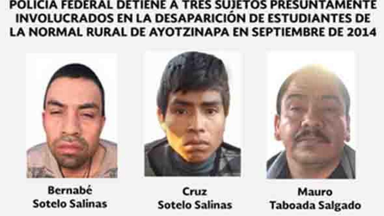 Detenidos por el caso Ayotzinapa.