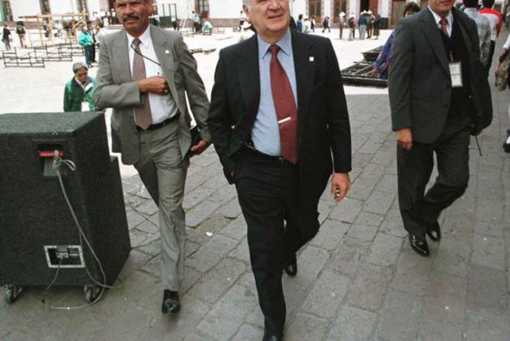 1 de abril. Miguel de la Madrid Hurtado, 77 años de edad. Ex presidente...
