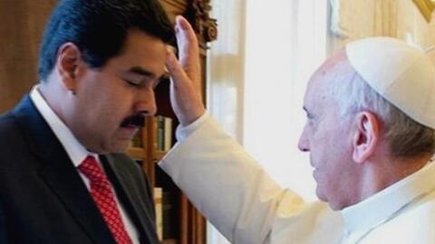 """En un minuto: el papa Francisco pidió a Nicolás Maduro """"diálogo sincero""""..."""