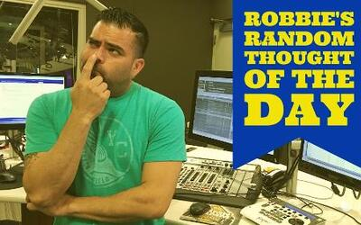 Robbie's Random Thoughts: One Dance
