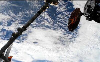 """La nave """"Cygnus"""" entregó 2,5 toneladas de suministros a la Estación Espa..."""