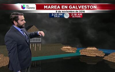 El tiempo: pleamar en Galveston