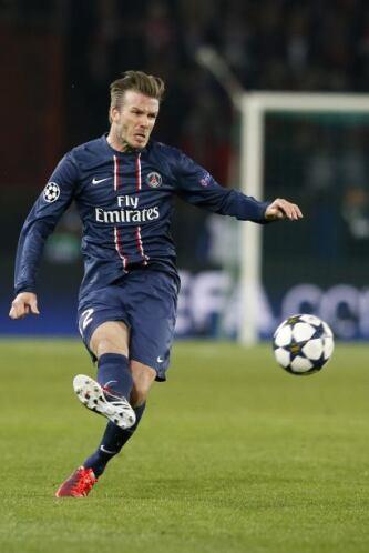 No se vio mal Beckham el tiempo que estuvo en el campo.