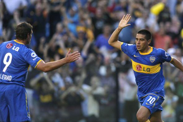 Los dos referentes de Boca Juniors, Martín Palermo y Juan Román Riquelme...