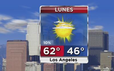 Lunes soleado y con bajas probabilidades de lluvia para este lunes en Lo...