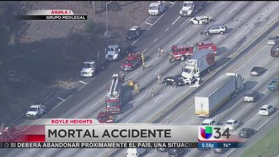 Mortal accidente en Boyle Heights