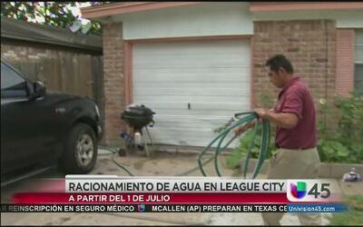Racionamiento de agua en League City