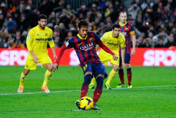 Neymar marcó sus dos goles en los momentos en los que parecía que el Vil...