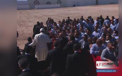 Mexicanos de nuestra área celebran misa del papa
