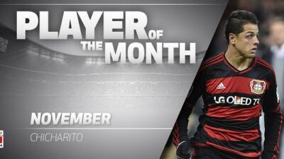 'Chicharito' lleva 12 goles con el Bayer Leverkusen.