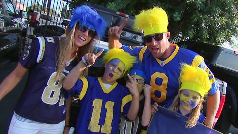Los fanáticos de los Rams disfrutaron del 'tailgate' antes del partido