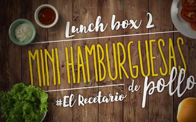 Mini hamburguesas, apio y sandía (Día 2) - 23 ideas para lunch boxes #El...