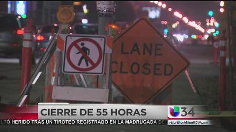 Cierran rampa de la 405 y varias calles aledañas