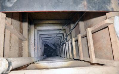 Un túnel de kilómetro y medio llega a una cárcel de máxima seguridad y d...