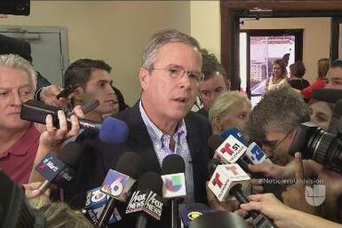 Jeb Bush se defiende de los ataques de Donald Trump