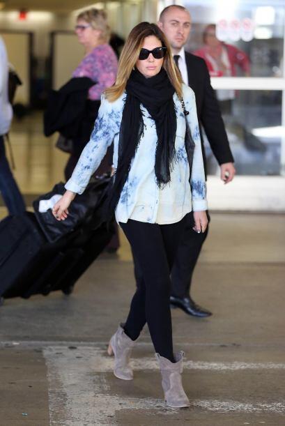 La modelo y actriz cubana Daisy Fuentes llegó al Aeropuerto Internaciona...
