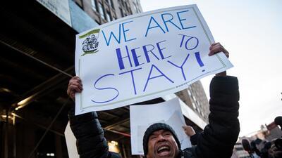 Imagen de archivo de una protesta reciente que aglutinó a inmigra...
