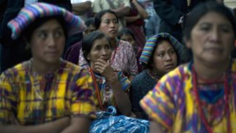 Indígenas mayas de Guatemala.