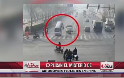 Explican misterio de automóviles flotantes