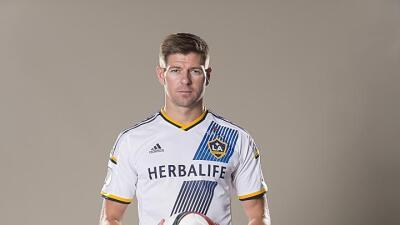 Steven Gerrard con la camiseta del Galaxy