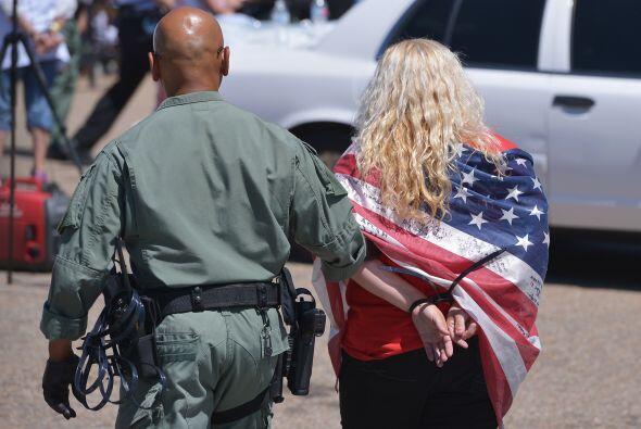 Durante la protecta se produjeron varios arrestos por interrupciones a l...