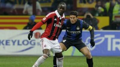 Balotelli vio cortada su racha goleadora desde que llegó con el Milan ju...