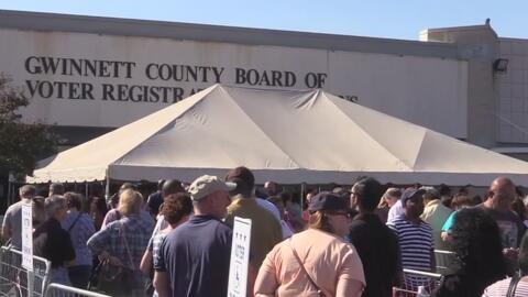 Un millón 54 mil personas han votado de manera adelantada en Georgia