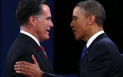 El tercer y último debate presidencial de Estados Unidos entre el candid...