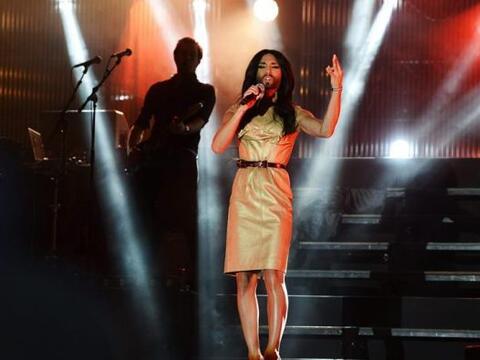 La cantante austriaca y ganadora del concurso Eurovisión 2014, Co...
