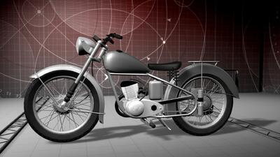 Animación de la motocicleta usada por El Chapo para escapar