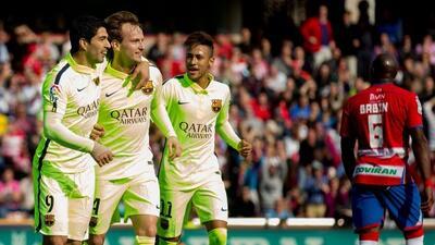 Rakitic y Suárez anotaron en el triunfo del Barcelona.