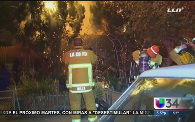 Devastador incendio destruye residencia