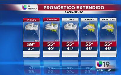 Frío y lluvia para este fin de semana en Sacramento