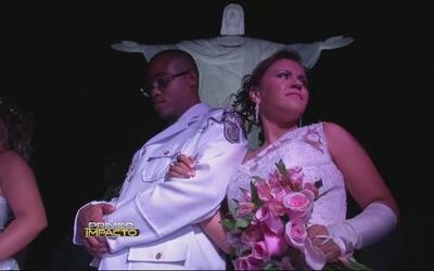 Varias parejas se casaron en una ceremonia en el Cristo Redentor